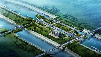拟建东淝河船闸效果图
